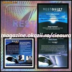 HOLOGRAMA ENERGETICA REST QUIET CieAura ORIGINALA made in SUA pentru SFORAIT, SOMN LINISTIT, INSOMNII si DETOXIFIEREA ORGANISMULUI