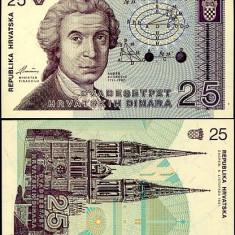 CROATIA- 25 DINARI 1991 - UNC!!! - bancnota europa