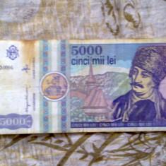 Bancnote vechi 5 000 - 10 000 - 1 000 lei - Bancnota romaneasca