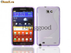 Husa mov l  Samsung Galaxy Note i9220 + folie ecran + expediere gratuita