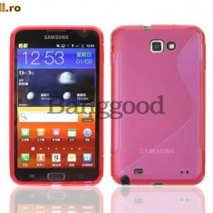 Husa  roz  Samsung Galaxy Note i9220 + folie ecran + expediere gratuita