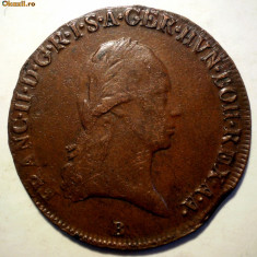E.346 AUSTRIA FRANZ II 3 KREUZER 1800 B EROARE, Europa, Cupru (arama)