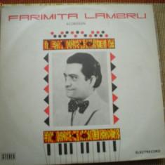 Faramita Lambru acordeon album disc vinyl lp Muzica Populara electrecord folclor romanesc, VINIL