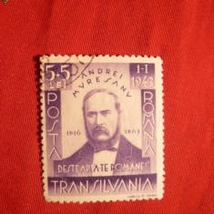 Serie Timbre Stampilat - Andrei Muresanu ,1943