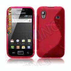 Husa silicon roz Samsung Galaxy ACE S5830 + folie protectie ecran + expediere gratuita - Husa Telefon