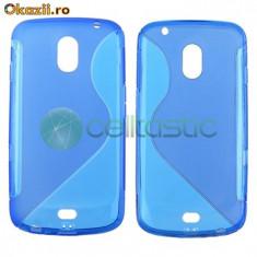 Husa albastra telefon Galaxy Nexus Blus S-Shape Samsung Galaxy Nexus Google i9250 - Husa Telefon Samsung, Plastic, Carcasa
