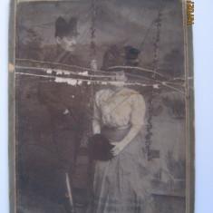 FOTOGRAFIE PE CARTON CU OFITER DIN ANUL 1908 - Fotografie veche