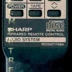 Telecomanda Combina Minisistem Sharp RCONT1749A - Telecomanda aparatura audio
