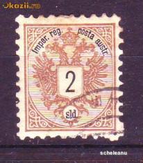 1883 Austria Levante Mi. 8 stampilat