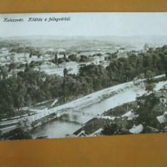 Carte Postala Cluj Kolozsvar Kilatas a fellegvarbol - Carte Postala Transilvania dupa 1918