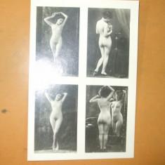 Fotografie veche arta erotica colaj 4 imagini femei nud 16 x 12 cm