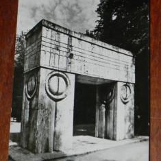 Carte postala JUDETUL GORJ -TARGU JIU - POARTA SARUTULUI. BRANCUSI, SCRISA, CIRCULATA, 1968 - Carti Postale Romania dupa 1918