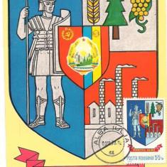 Ilustrata maxima-STEMA JUDETULUI ALBA