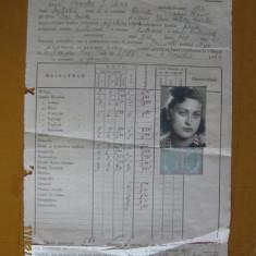 MATRICOLA SCOLARA DE LA SCOALA CENTRALA DE FETE BUC.PENTRU ANUL 1943-1944 - Diploma/Certificat