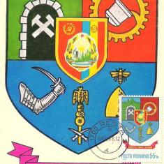 Ilustrata maxima-STEMA JUDETULUI CARAS SEVERIN