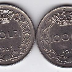 2.Regele Mihai, lot 100 lei 1943 si 1944, calitate - Moneda Romania