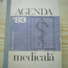 Agenda medicala 89 carte medicina 1989