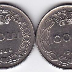 3.Regele Mihai, lot 100 lei 1943 si 1944, calitate - Moneda Romania