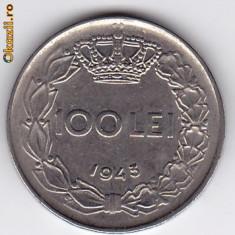 4.Regele Mihai, 100 lei 1943 XF/a.UNC - Moneda Romania