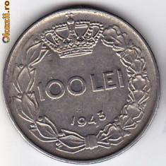 1.Regele Mihai, 100 lei 1943 XF/a.UNC - Moneda Romania