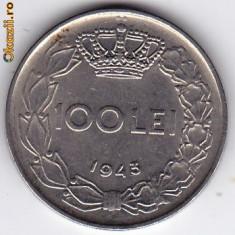 5.Regele Mihai, 100 lei 1943 XF/a.UNC - Moneda Romania