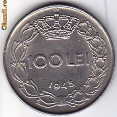 7.Regele Mihai, 100 lei 1943 XF/a.UNC - Moneda Romania