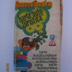 ROMANIA CARTE SI HARTA AUTOTURISTICA DIN 1974 - Ghid de calatorie