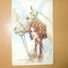 Carte postala Ilustratori Desen Corbella fata cal