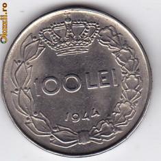 9.Regele Mihai, 100 lei 1944 a.UNC/UNC - Moneda Romania