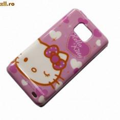 Husa HELLO KITTY SAMSUNG GALAXY 2 i9100 + folie ecran + expediere gartuita - Husa Telefon