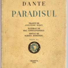 DANTE - PARADISUL (1939 - cu ilustratii de MAC CONSTANTINESCU) - Roman