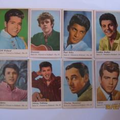 CARTONASE OLANDEZE DE GUMA CU ARTISTI DIN ANII 60 - Cartonas de colectie