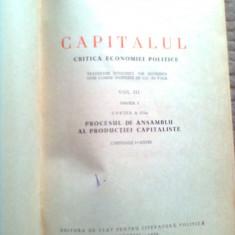 Karl Marx Capitalul vol 3 partea 1 a carte istorie economie stiinta politica