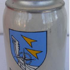 Halba din ceramica cu capac din zinc Oldenburg Germania