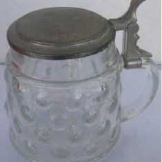 Halba din sticla cu capac din zinc (E)