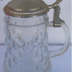 Halba din sticla cu capac din zinc (G)