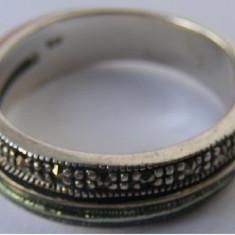 Inel vechi din argint cu markasite - de colectie