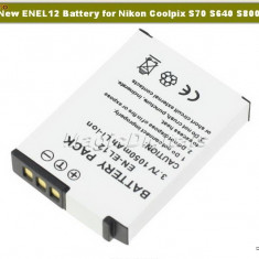 Baterie ENEL12, EN - EL12- Nikon Coolpix S70 S640 S8000 - Baterie Aparat foto Nikon, Dedicat