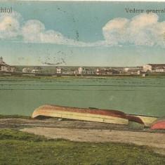Techirghiol - Vedere generala si lacul - 1926