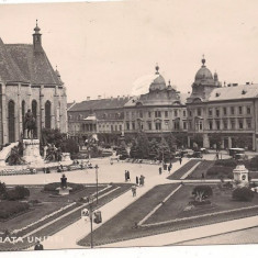 Carte postala- CLUJ-1931-Piata Unirii - Carte Postala Transilvania dupa 1918