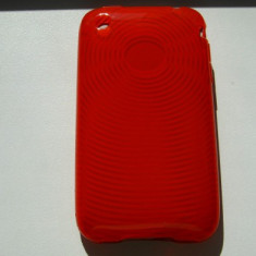 Husa iPhone 3G 3GS spate TPU Texturata Red
