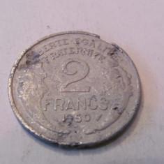 CY - 2 francs (franci) 1950 Franta / aluminiu