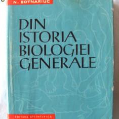 """""""DIN ISTORIA BIOLOGIEI GENERALE"""", N. Botnariuc / S. Ghita, 1961. Carte noua, Alta editura"""