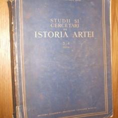 Studii si Cercetari de ISTORIA ARTEI NR. 3-4 / 1954 - Carte Istoria artei