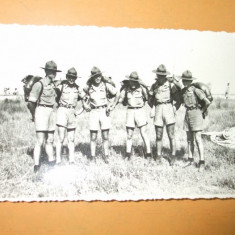 Carte postala cercetasi uniforma