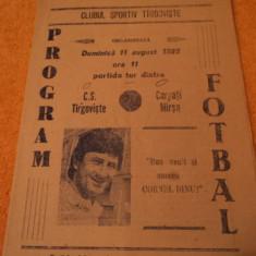 Program fotbal CS TARGOVISTE - CARPATI Marsa 11.08.1985