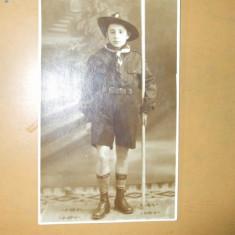 Carte postala cercetasi uniforma copil