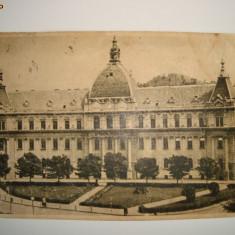 CP Orasul Stalin (Brasov), Palatul de Justitie, circulata 1955 - Carte Postala Transilvania dupa 1918