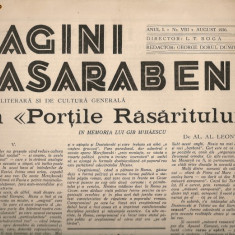 Pagini Basarabene - anul I, nr. VIII - august 1936 - Ziar