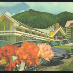CARTE POSTALA - POIANA BRASOV HOTELUL  TELEFERIC